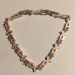 Avon Breast Cancer ribbon tennis bracelet